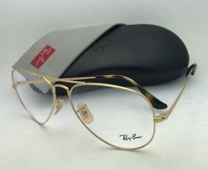 ccc51ce3f9 New RAY-BAN Classic Aviator Rx-able Eyeglasses RB 6489 2500 58-14 ...
