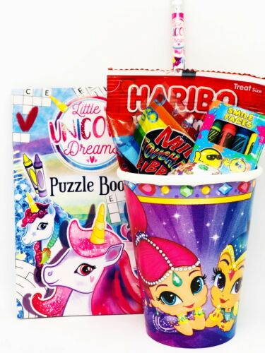 Girls Ready Made Party Favours Shimmer /& Shine Filled Birthday Party Bags