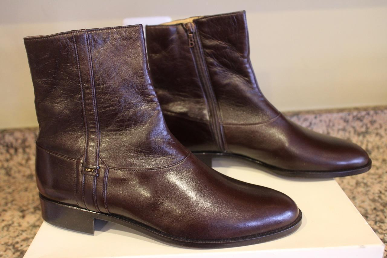 NWOB  BALLY Women's Brown Nappa Sheriff Ankle Boots Size 9.5D