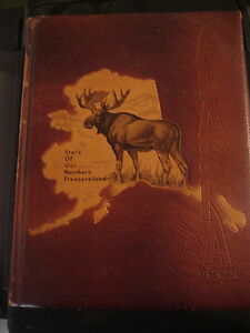 1st-ED-THE-ALASKA-BOOK-HISTORY-BOOK-Brown-amp-Bigelow-Mission-Leather-Cover