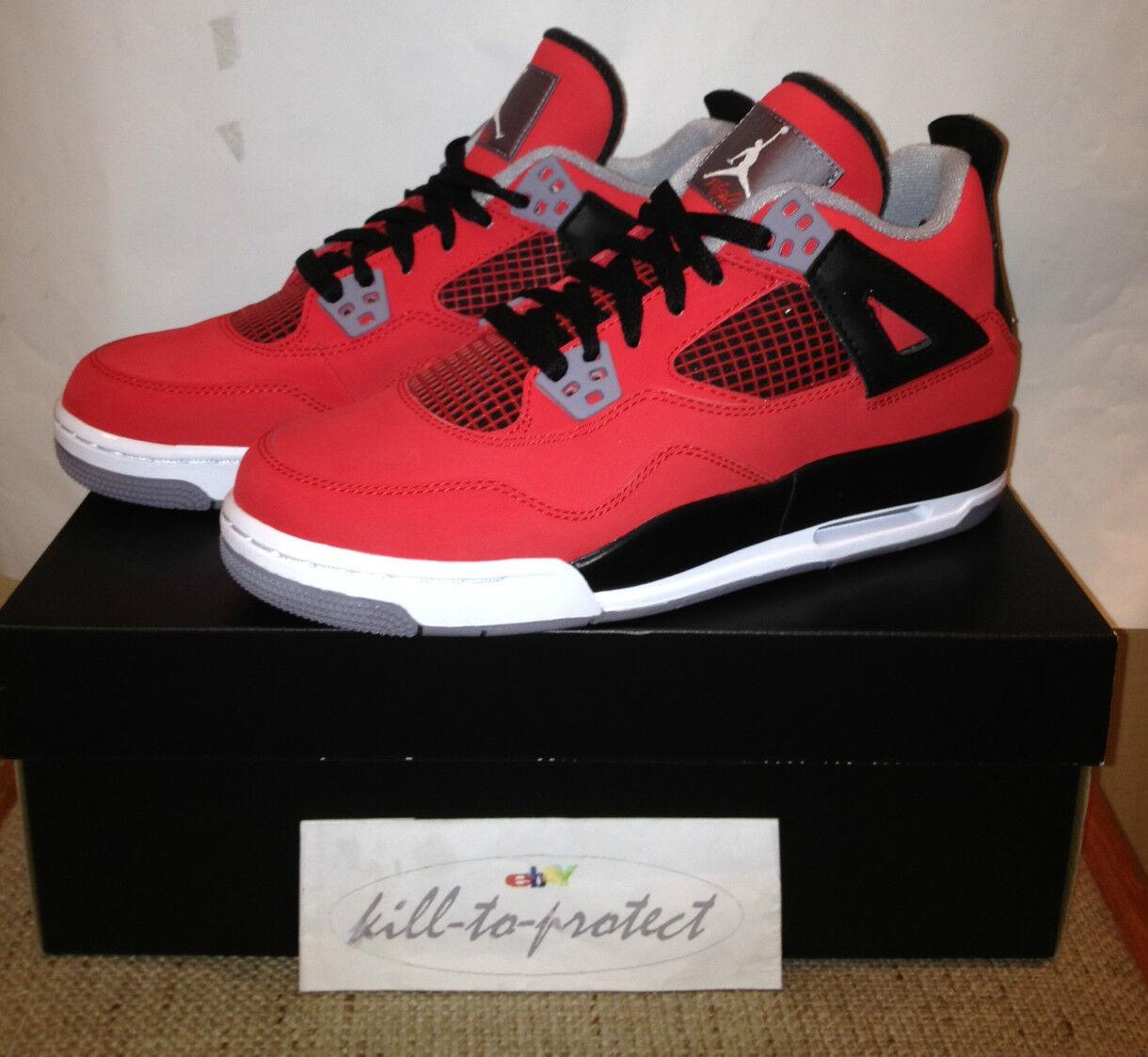 Nike jordan 4 toro bravo red mila bambini sz y 5y 6y db raging 408452-603
