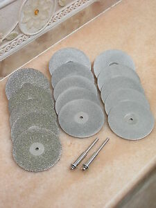 15-Tlg-50mm-Schmuck-THK-Diamant-3-GRITS-Trennscheibe-Schleifscheibe-fuer-Dremel