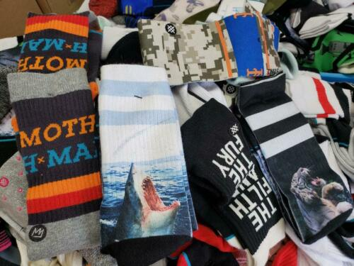 Stance Mens Crew Socks Size Large 9-12 Bundle 5 MIX Pair Lot GRADE B