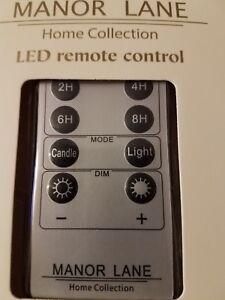 Details about Manor Lane Shimmer Lights LED REMOTE Battery Timer Flicker,  Dimmer, etc  NEW