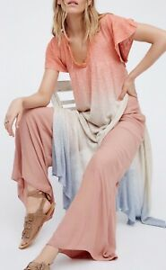5e309285d78 Free People Double Dip Tunic Top Knit Faux-Dress High Slit Ombre ...