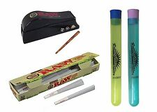 32 Raw Organic Pre-rolled Cones 1 1/4 Filler Shooter 2 Doob Tubes Rolling Paper