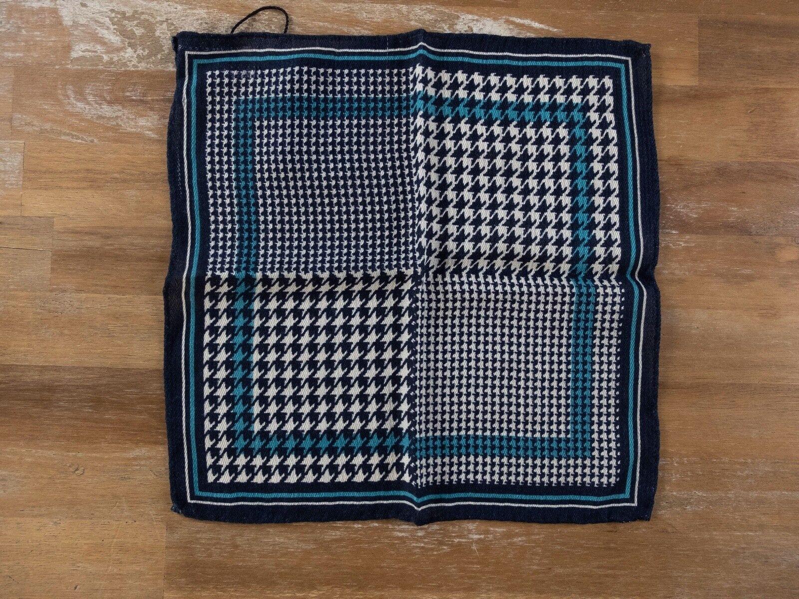ERMENGILDO ZEGNA wool houndstooth pocket square authentic