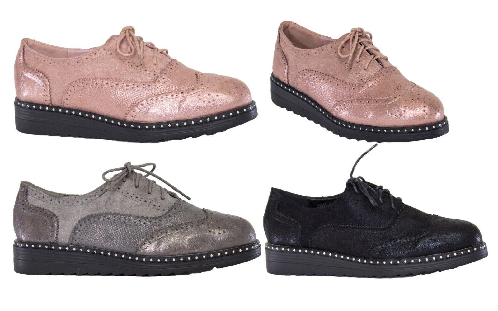 Bottines Baskets femme à lacets, Brillant Vintage Baskets basses Plateforme Baskets Bottines Casual Chaussures Femmes 1c73dc