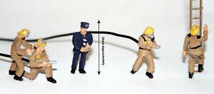 Painted-Modern-Firefighters-action-figures-OO-HO-gauge-figures-Langley-F134bp