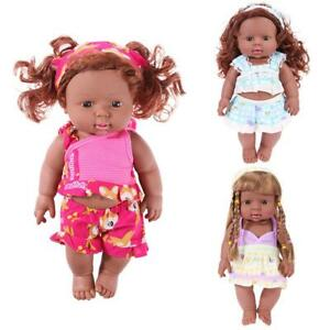 30cm-Baby-Simulation-Doll-African-Baby-Girl-Doll-Toy-Kids-Birthday-Gift-NEW