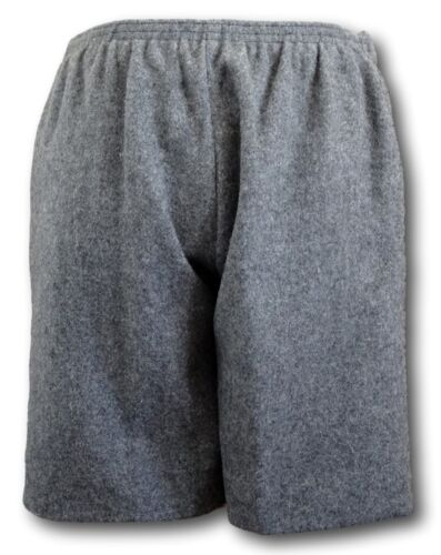 Elastic Back /& COTTON Lining Grey Wool Flannel School Uniform Short Trousers