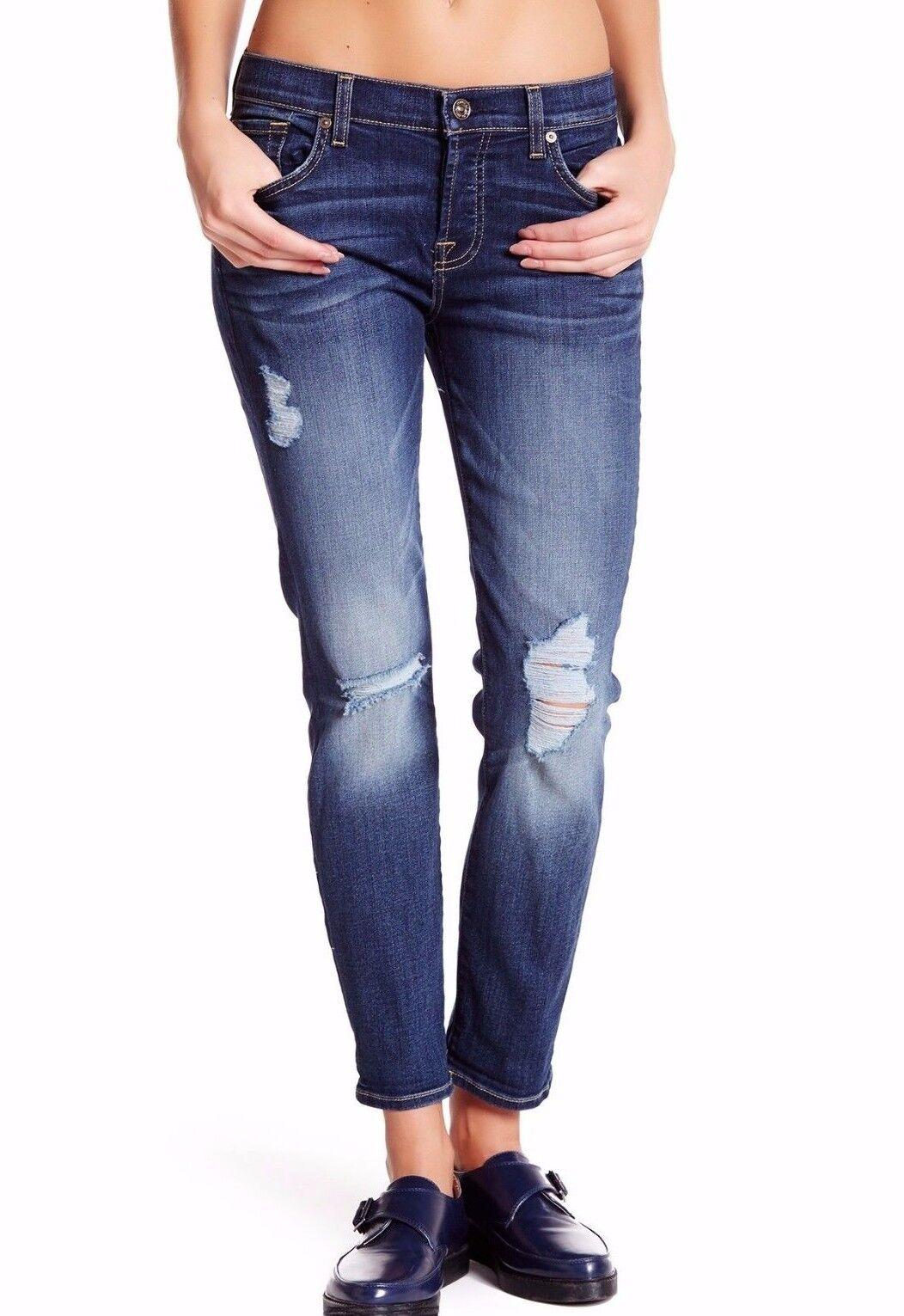 Nwt 7 für Alle Sz26 Josefina Distressed Skinny-Boyfriend Jeans Sonnig Vall