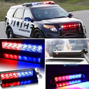 Red-Blue-8-LED-Car-Dash-Strobe-Light-Flash-Emergency-Police-Warning-Safety-Lamp