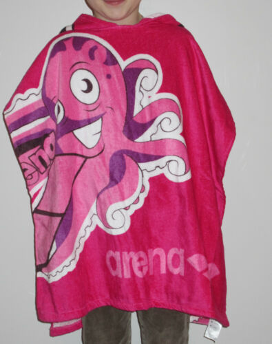 "Arena Poncho Bath Towel /"" Octopus /"" Children Towel Badeumhang Pink Nip Size M"