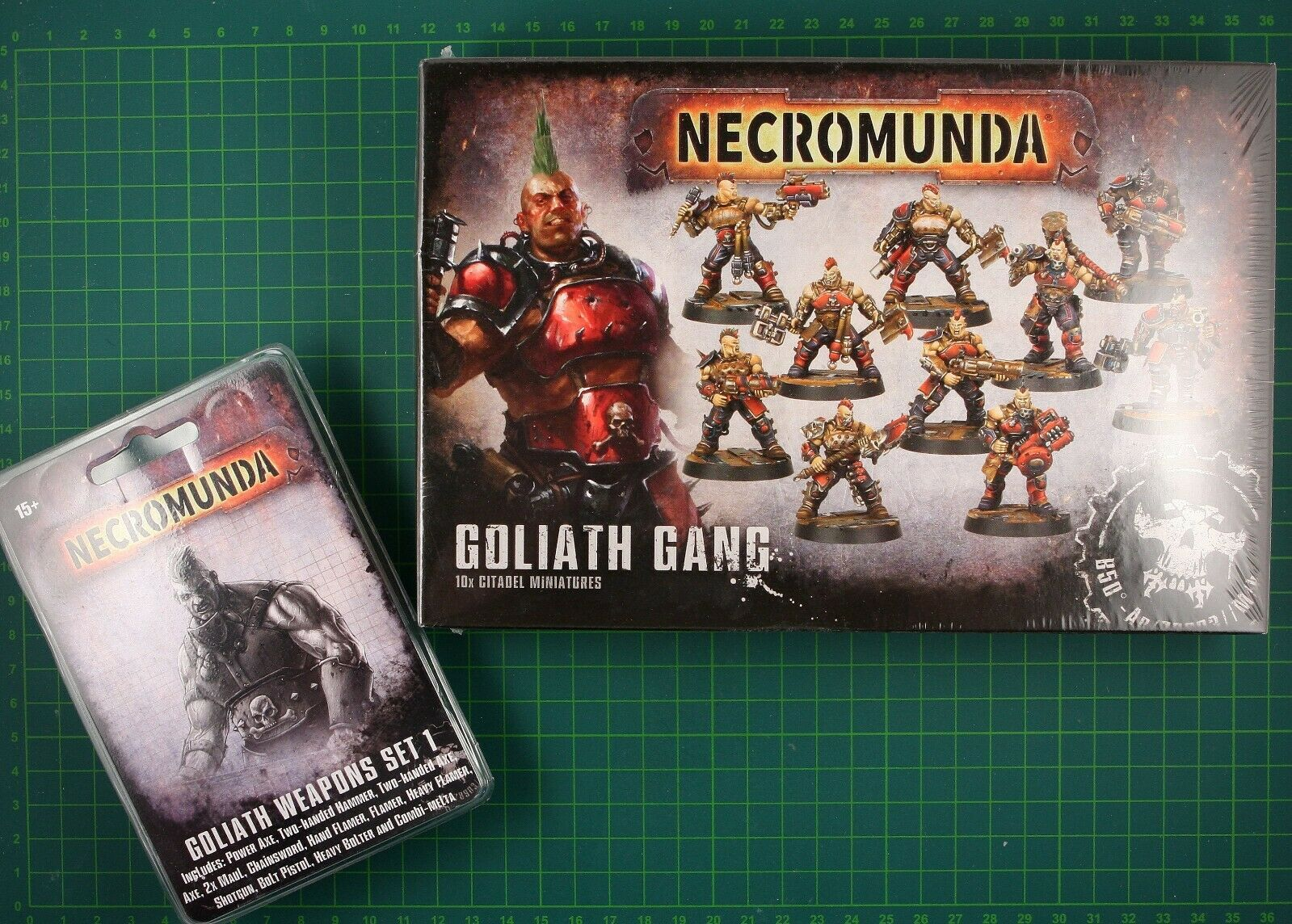 Goliath Gang Boîte + Goliath Weapons Set 1 Forge Monde Necromunda 11919