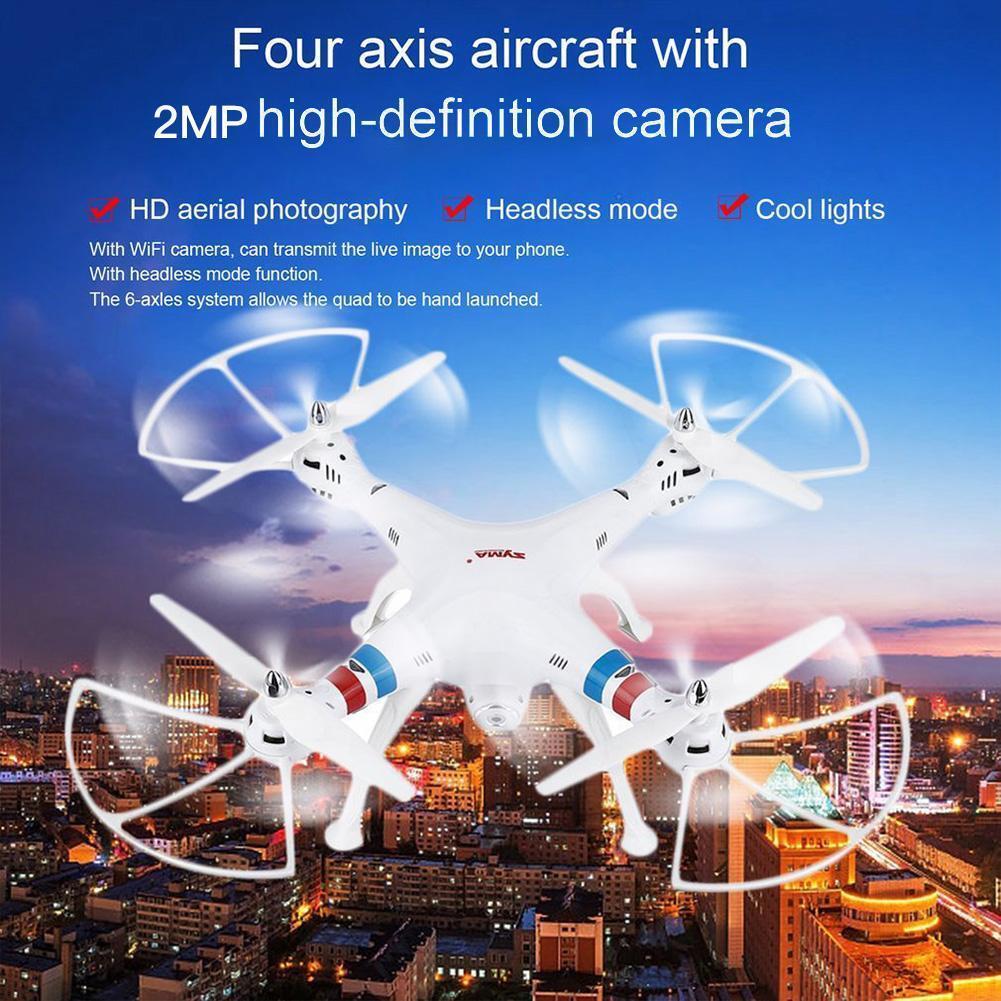 Syma X8W FPV 2.4Ghz 4CH Remote Control Quadcopter  Drone UVA 2MP Wifi teletelecamera RTF  sport dello shopping online