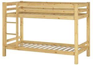 letto a castello legno massello pino + griglia rullo 90x200 culla ...