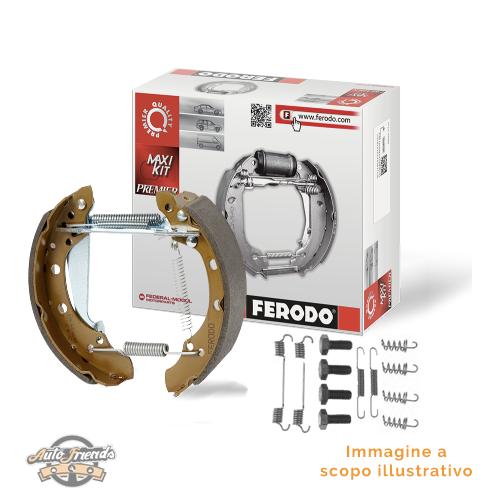 1 FERODO Kit ganasce freno Assale posteriore 500 500 C PANDA PANDA Van KA