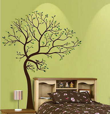 Giant Tree bird branch Trunk Wall Art Stickers Removable Vinyl Decal Decor Mural