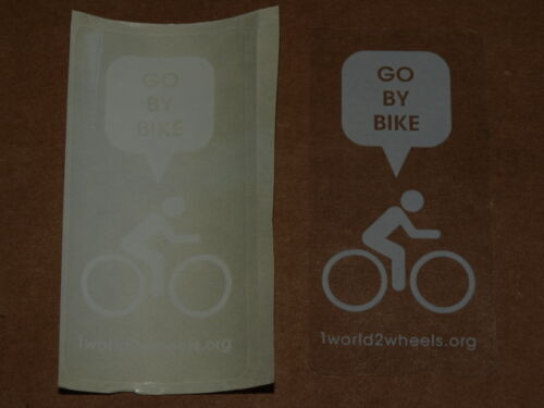 """Bicycle Cycling Sticker Decal /""""Go By Bike/"""" 1 world2wheels.org"""