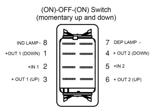 ON ON VLD1A60B mom DPDT Carling Contura Rocker Switch boat marine -OFF-mom