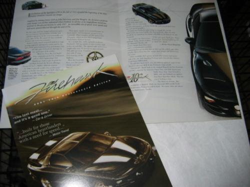 SLP 2001 Pontiac FIREHAWK 10th Anniversary Edition