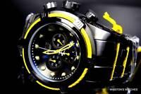 Mens Invicta Reserve Bolt Zeus Yellow Black Steel Swiss Chronograph Watch New