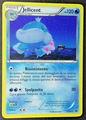 JELLICENT 35//99 Rara in Italiano POKEMON NERO BIANCO Destini Futuri