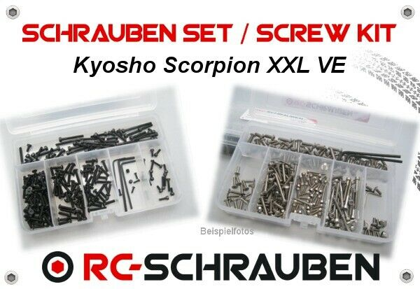 Screw Set for the Kyosho Scorpion Xxl Ve - Stainless Steel & Steel - ISK & IS