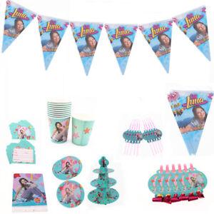Disney-soja-Luna-Filles-Fete-D-039-anniversaire-Fournitures-sac-Vaisselle-Assiettes-Tasses-Decor