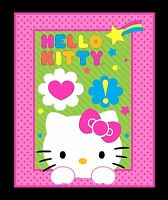 Hello Kitty Neon Expressions Panel - Green