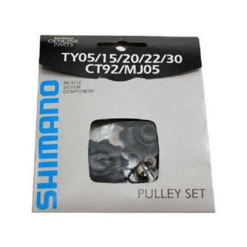 "SHIMANO BIKE JOCKEY WHEEL PULLEY SET 10 TEETH 1 1//2/"" 38MM 6 7 8 SPEED TY05-30"