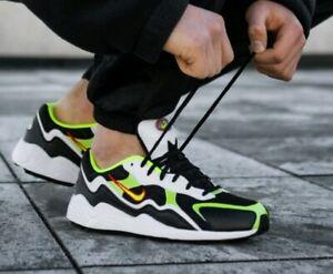 Dettagli su Nike Air Zoom Alpha QS MISURA 7 Regno Unito Nuovo con Scatola Nero Volt Sneaker Uomo VERA AUTENTICA mostra il titolo originale