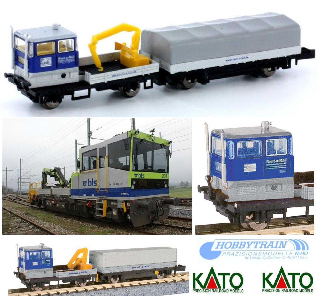 KATO HOBBYTRAIN 23555 LOCOMOTIVE DRAISINE with TOW and crane also FS LADDER-N