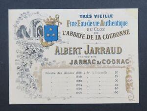 Carte De Visite Tarif Albert JARRAUD Jarnac Charente