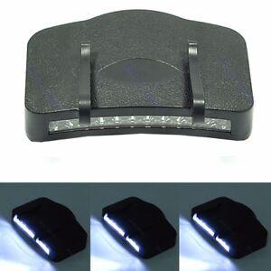 11-LED-Flashlight-Camping-Clip-On-Cap-Hat-Light-Black
