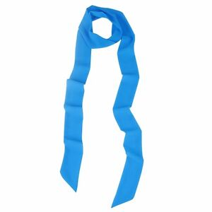 fe2d250e2ee9 Ladies Skinny Scarf Chiffon Extra Long Slim Solid Color Ribbon Tie ...