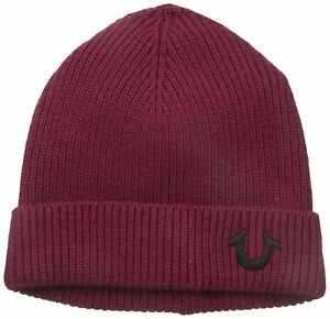Image is loading True-Religion-Ribbed-Knit-Watch-Cap-Broadway b75a5ecdc587