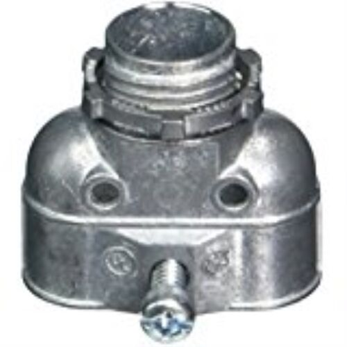 Halex 15803B Duplex Connectors Flex Zinc Die Cast (25 Piece), 3/8