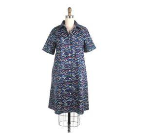 ModCloth-Frock-Shop-Mujer-Lapiz-Plisado-A-line-Vestido-Con-Bolsillos-Talle-M