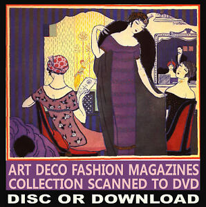 ☆ Gazette Du Bon Ton ☆ ART DECO Fashion Design Mag. 10 Volumes Scanned ☆