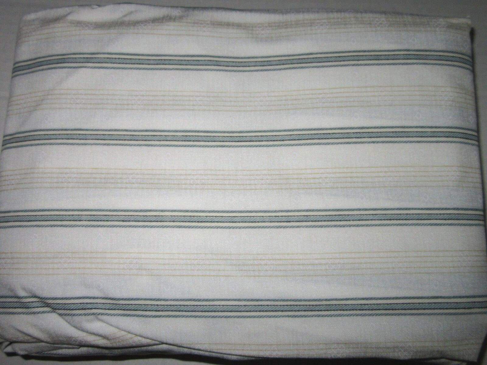 Chaps Ralph Lauren 100% Cotton FULL FITTED Sheet Stripes & Diamond Multi NWOP