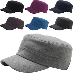 A108 Men Fashion Wool Winter Warm Simple Design Club Army Cap Cadet ... e9782b784ea