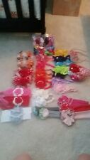"""Large lot of baby/toddler bows & headbands--""""Handmade"""", Girls, and One Size"""