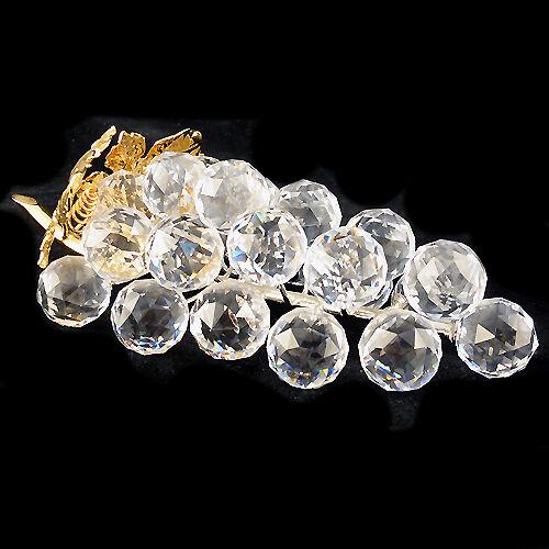 Uvas De oro Cristal De Swarovski Nuevo en Caja 6.25  de largo hecho en Austria  011-864