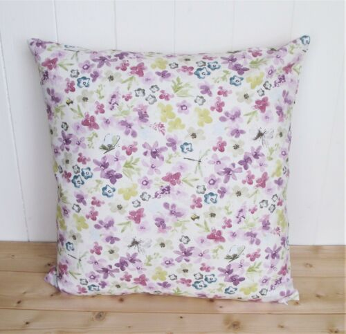Pattern Both Sides /& Zip Lilac Floral Cushion Cover in Dunelm Hidcote Fabric
