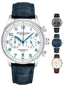 Stuhrling 896 meca-quartz VK64 Premium Chronograph Instant Reset Men's Watch