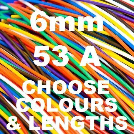 30 Metros Tri nominal de 6 mm Cable 53a 84//0.30 6.0 mm Automotriz 12v 24v De Alambre