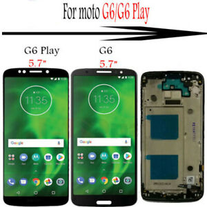 For Motorola Moto G6/G6 Play LCD Display TouchScreen Digitizer Frame Replacement
