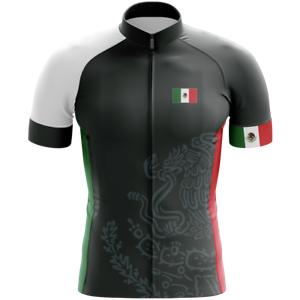 MEXICO BLACK SHORT SLEEVE CYCLING JERSEY